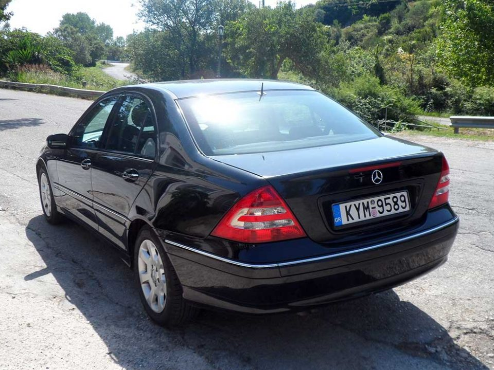 Mercedes C200 , First car rental Corfu Ermones