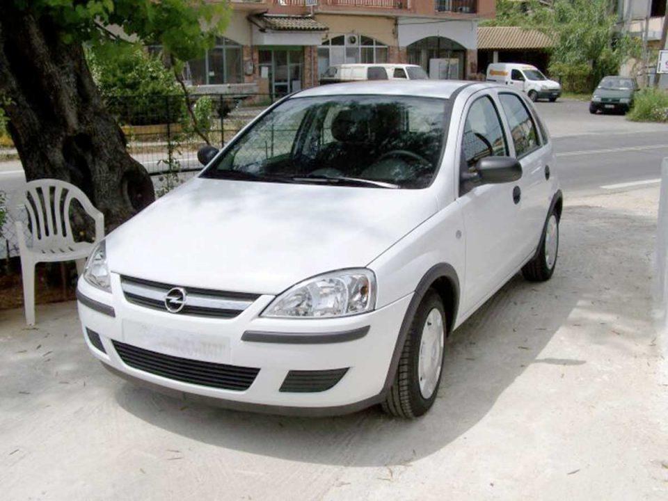 Opel Corsa 1.2 , First car rental Corfu Ermones