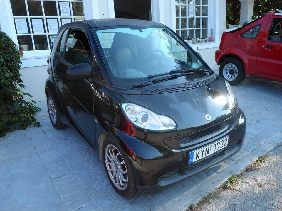 Smart Automatic , First car rental Corfu Ermones
