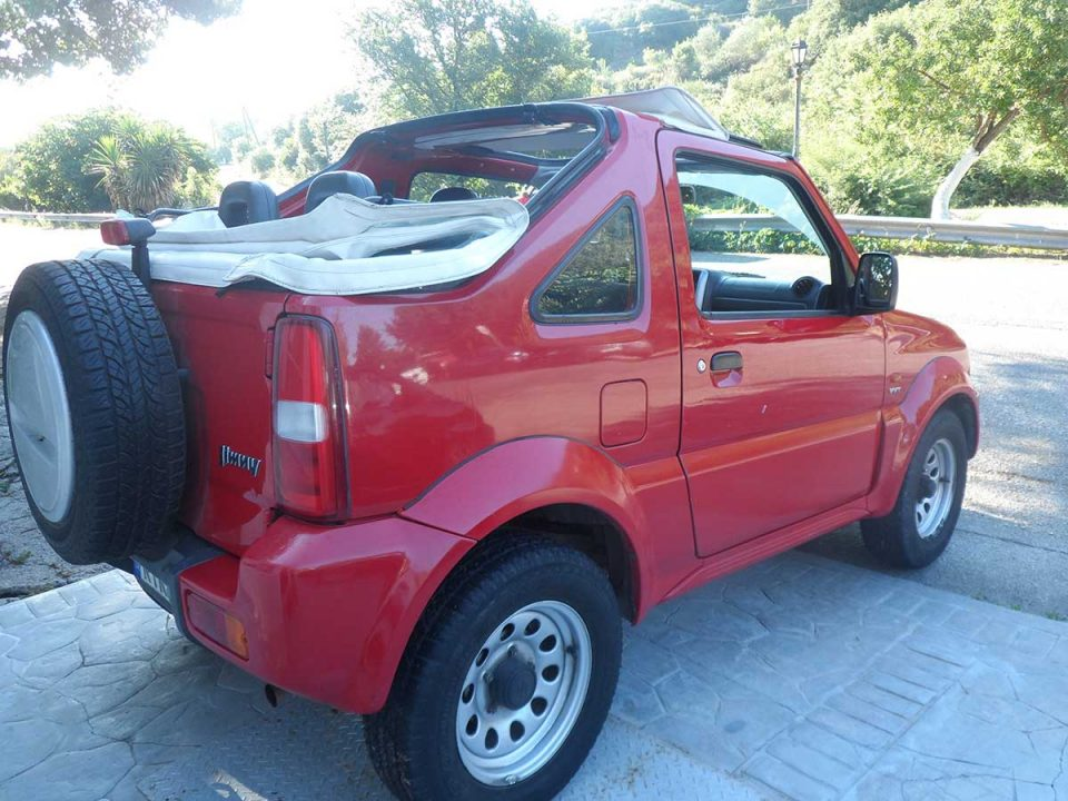 Suzuki Jimny 4X4 AC , First car rental Corfu Ermones