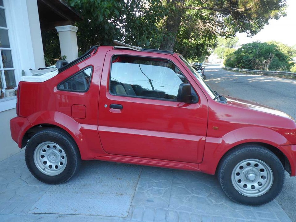 Suzuki Jimny 4X4 no AC , First car rental Corfu Ermones