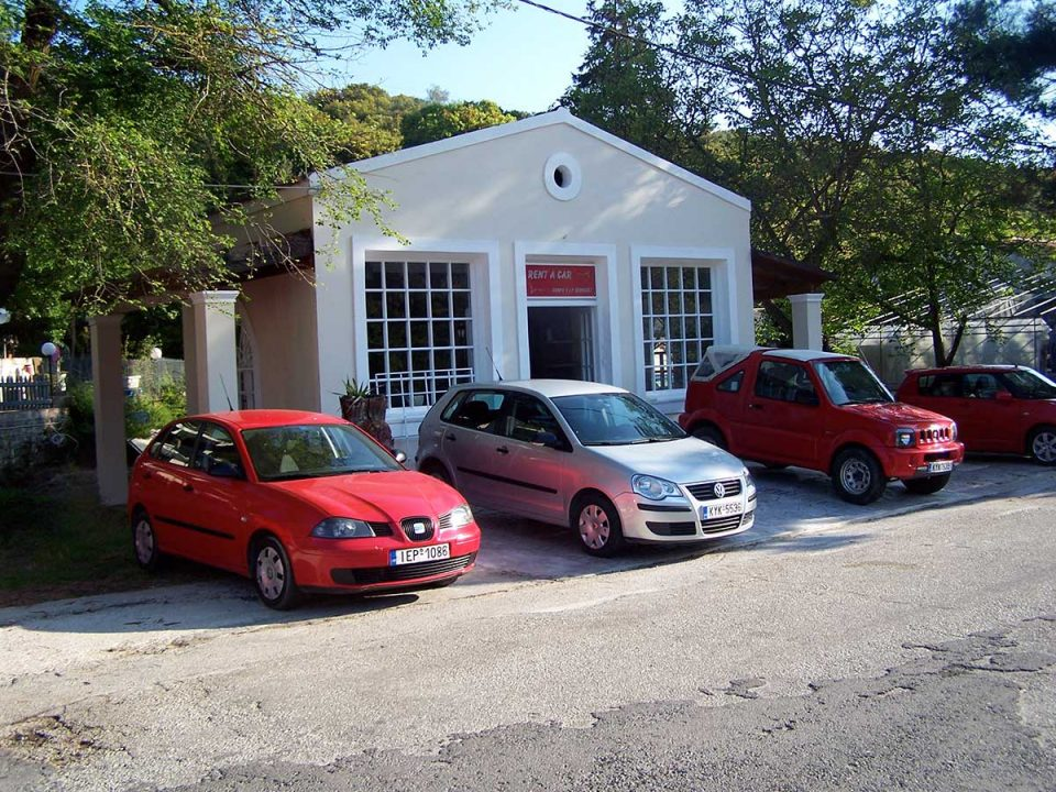 Ermones office, first car rental Corfu Ermones