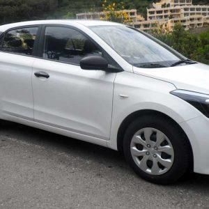 Hyudai i20 , 1200cc , 1car rental Corfu Ermones